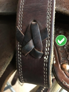 Correct leather lacing method