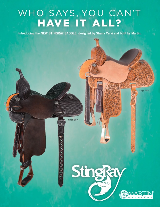 New Martin barrel saddle, the Stingray!